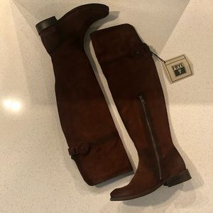 NWT Frye x Anthropologie Over the Knee Suede Boots